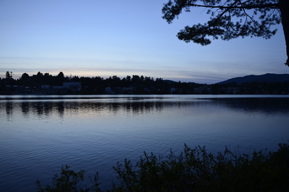 Town of Lake Placid across Mirror Lake Heather Telford